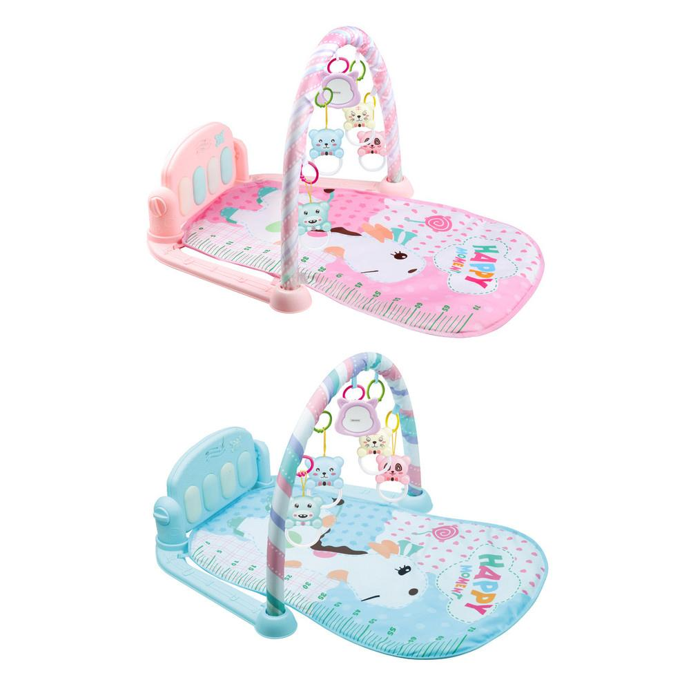 How To Play Newborn On Piano Us 24 68 38 Off Baby Kick And Play Piano Gym Lay Play Mat Musical Activity Gym Newborn Exercise Activity Family Universal Soft Mat With Teether In