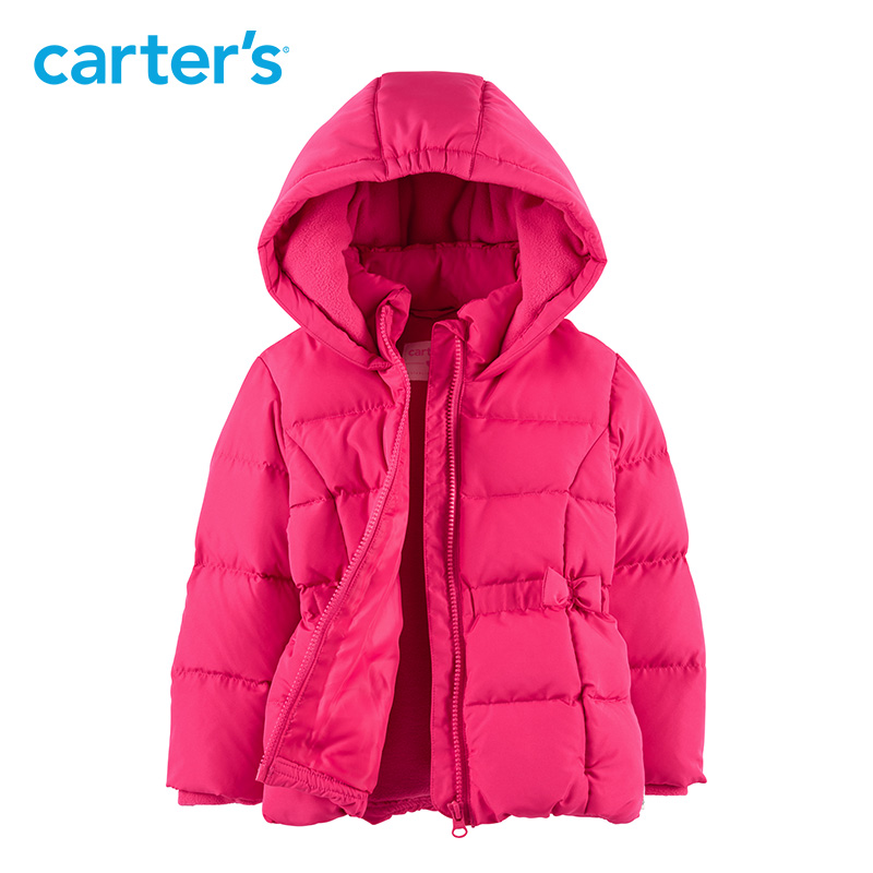 Carters Duck Down Jacket Girl Winter Outerwear Coats Kids Casual Warm Down puffer jacket Parka Kid Clothes CL218768/CL218778 костюм carters