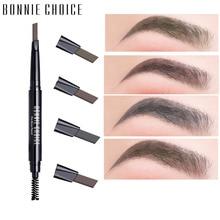 BONNIE CHOICE 1 pc двухсторонний карандаш для бровей коричневый водостойкий стойкий оттенок бровей Косметика для профессионального макияжа