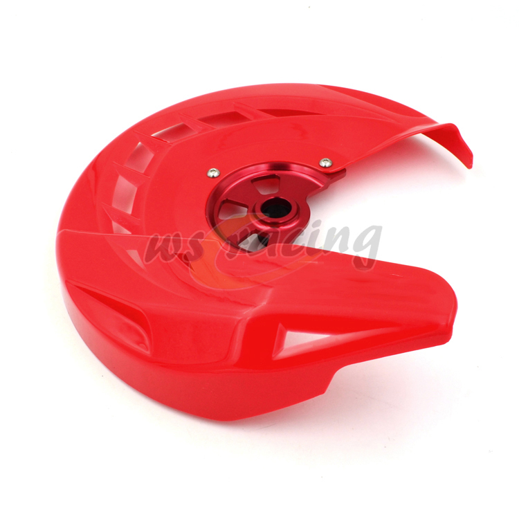 Motorcycle Front Brake Disc Rotor Guard Cover Protector Protection For HONDA CR125R CR250R CRF250X CRF450R CRF450X CRF250R motorcycle brake disc rotor for honda 125 250 pantheon 98 07 250 forza jazz foresight for peugeot sv250 02 07 cagiva elefant