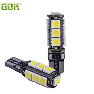 Światła zewnętrzne 100 X błąd bezpłatne T10 Canbus Led 13smd 5050 led 194 t10 w5w 13Smd żarówka wysyłka lampa samochodowa sprzedaż hurtowa