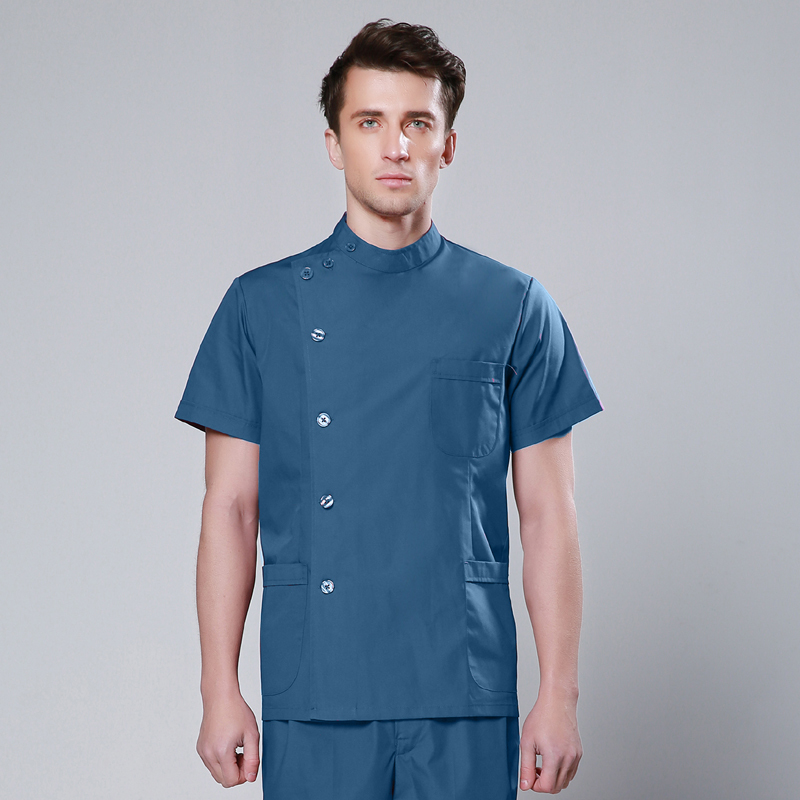 2019 Summer High Quality Washable And Durable Short Sleeve Medical Clothes For Women And Men Medical Scrub Suits Surgical Suit