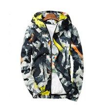 Fashion Men Jacket Coats Male Causal Hooded Camouflage Jacket Thin Windbreaker Zipper Outwear Spring Autumn Bomber Jackets Men