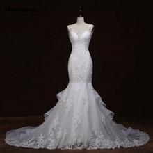MANYUNFANG Vestidos Novia Mermaid Wedding Dress For Brides