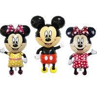 1500 шт. 114 см большой гигантский Микки и Минни воздушные шары в форме мыши для детей день рождения украшения