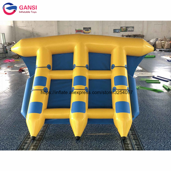 Water Sports Games Fly Fish Commercial Quality Towable Inflatable Flyfish Banana Boat With Air Pump цена 2017