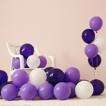 latex balloons 50pcs/lot 10inch purple series ballons 1st birthday party baloon wedding decor ballon baby shower decorations