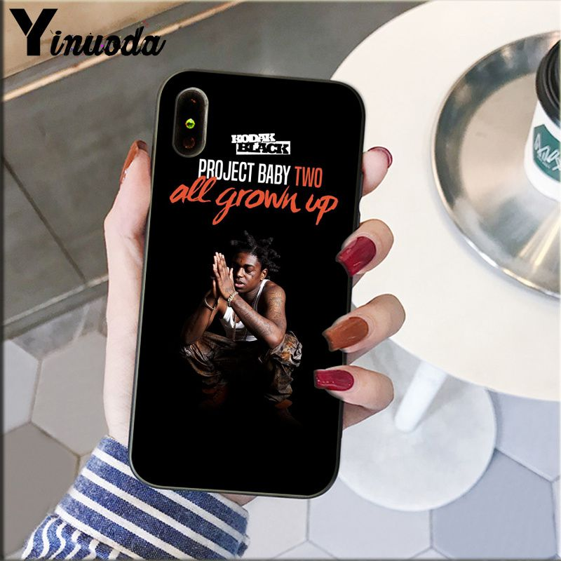 Image 2 - Yinuoda Kodak Black Rapper Soft Silicone black Phone Case for Apple iPhone 8 7 6 6S Plus X XS MAX 5 5S SE XR Cellphones-in Half-wrapped Cases from Cellphones & Telecommunications