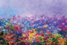 Laeacco Blurry Flowers Painting Photo Photography Backgrounds Customized Photographic Backdrops For Studio