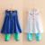 Meninas do bebê Conjuntos de Roupas Novas de Verão 2016 Elsa Meninas Roupas Set Bordado Floral Colete Vestido + Legging Desenhos Animados Da Menina Da Criança ternos