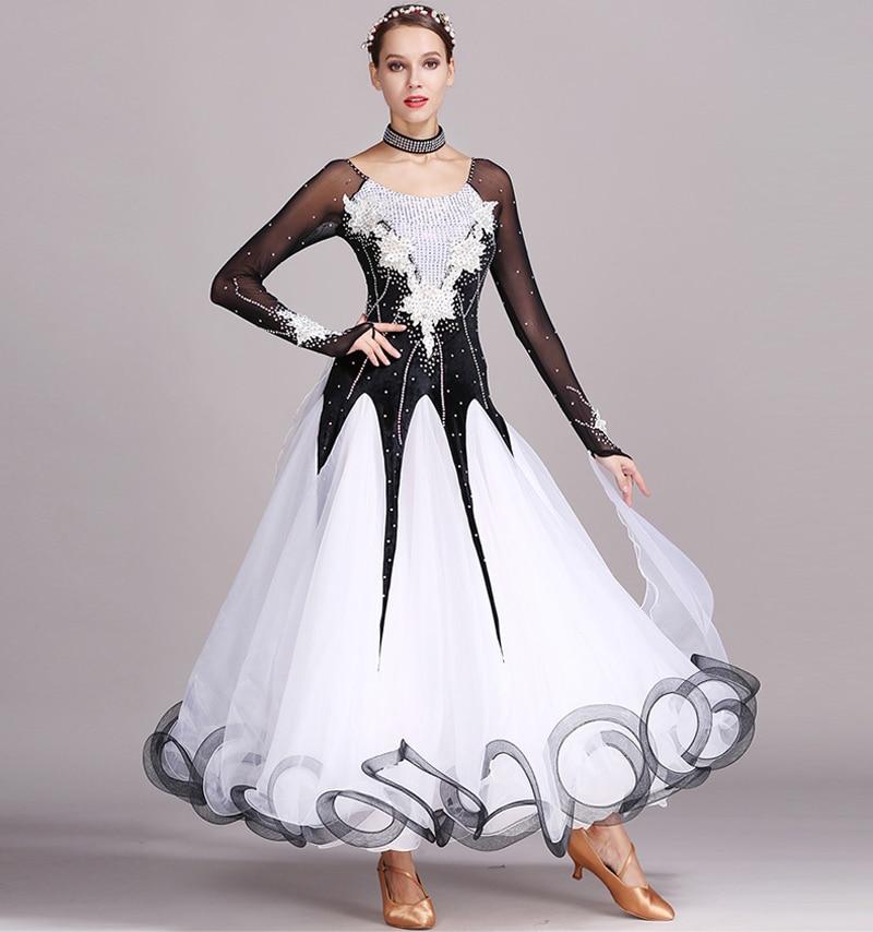 Standard Ballroom Dancing Dresses Adult New Style 5 Color Waltz Skirt High Quality Women Ballroom Competition Dance Dress