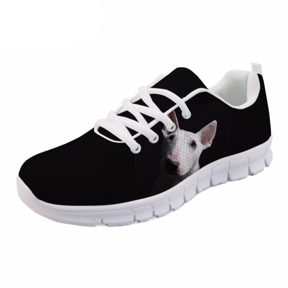 NOISYDESIGNS Cute mens flat Shoes Animal Bull Terrier Print Casual men Comfortable Shoes School Student Walking Shoes boys