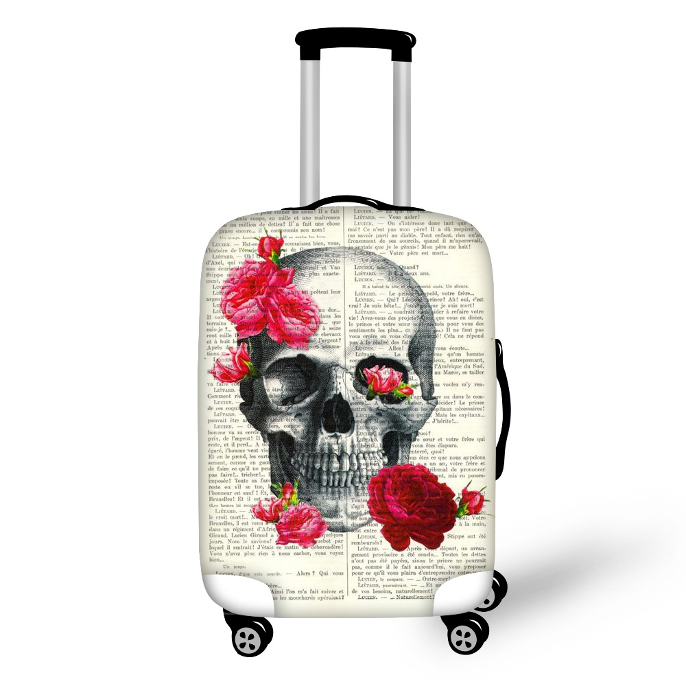Gun N Rose Women Men Travel Protection Bags Luggage Cover Elastic Stretch Protective Suitcase Covers Apply To 18''-30'' Case Bag