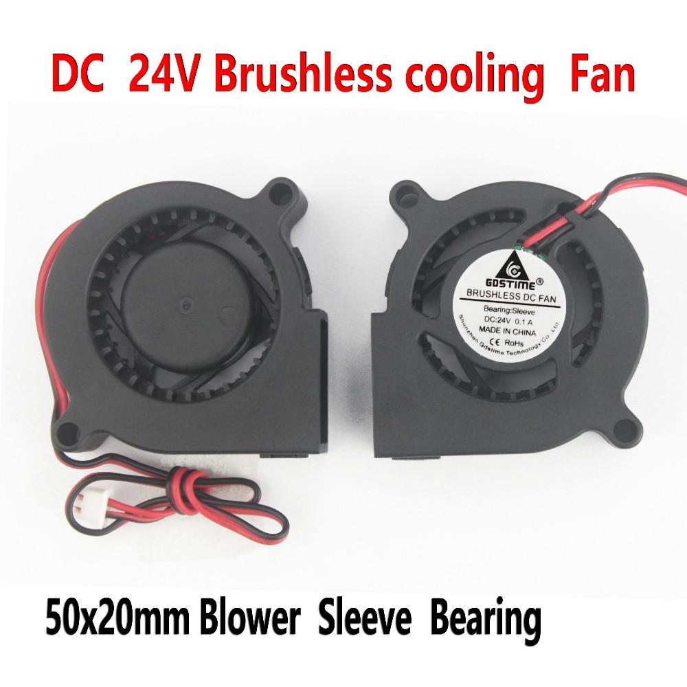 2 komada Gdstime 5cm DC 24V 50x50x20mm 50mm ventilator puhala 5020s - Igre i pribor