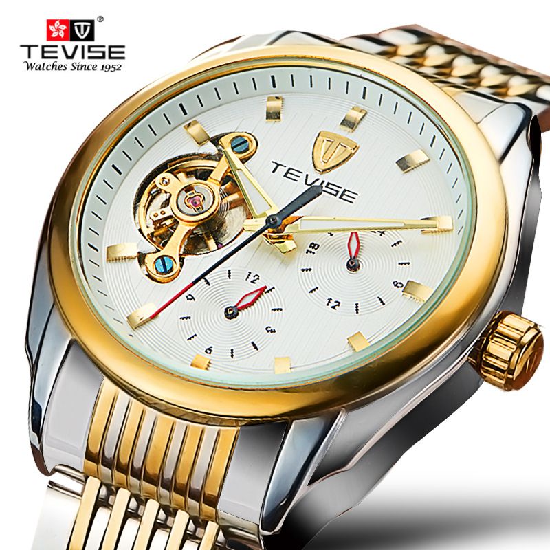 NEW luxury Brand male watches Automatic Self-Wind mechanical mens wristwatches With Calendar Luminous waterproof watch 631-002