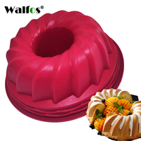 WALFOS Food Grade Silicone Mousse Mould Large Size Silicone Butter Cake Mould Bakeware Cake Pan Bread