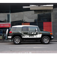 car stickers side body stripe tire styling door graphic vinyl accessories custom for toyota FJ CRUISER 2018