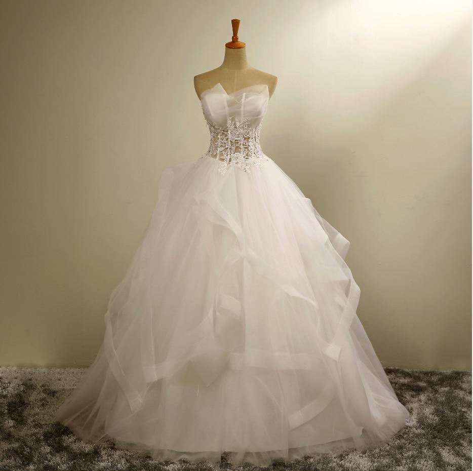 Lace Halter Wedding Gown: 2016 New Halter Organza Lace Wedding Dress Elastic Skirt