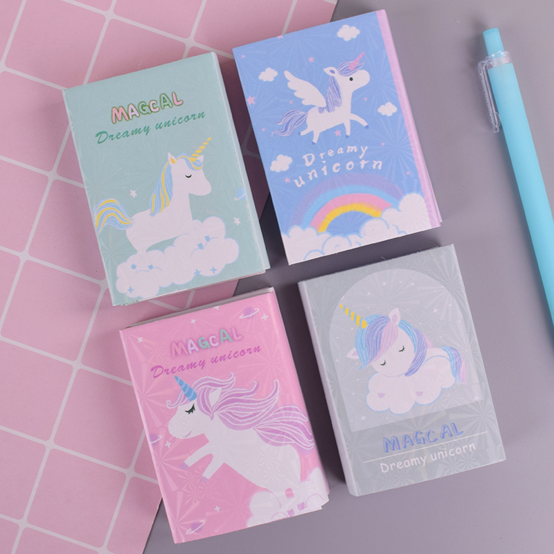 Cartoon Unicorn Memo Pad Planner Sticky Note Paper Sticker Kawaii Stationery Pepalaria Office School Supplies 40 Pages