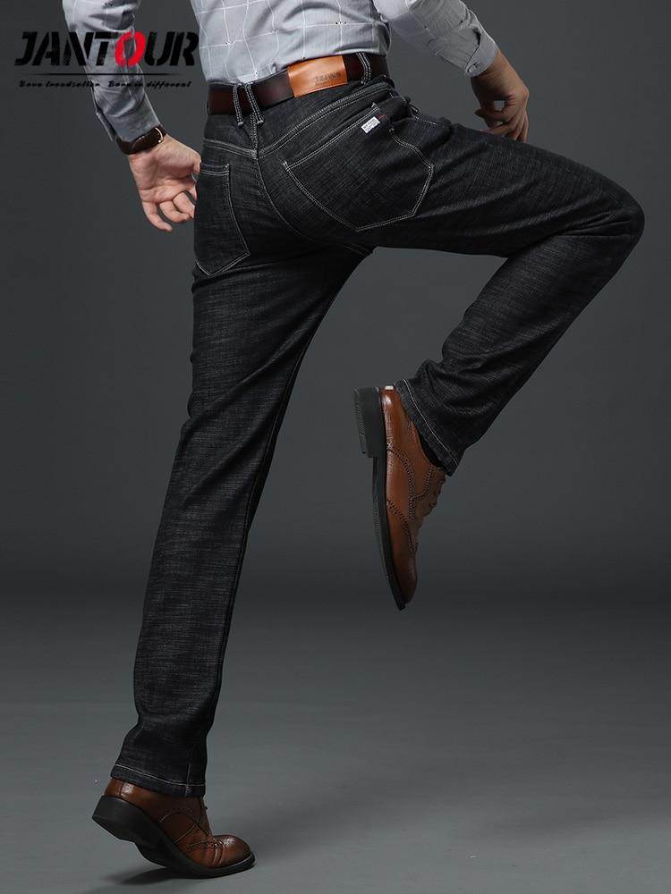 jantour Brand 2019 New Men's Straight Elastic   Jeans   men Fashion Business Classic Style Skinny   Jeans   Denim Pants Trousers Male