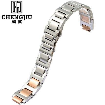 Stainless Steel Watch Band For Cartier 14 18 20 mm Metal Bracelet Belt Strap For Hours Convex Bretelle Men Women Orologi Montre eache silicone watch band strap replacement watch band can fit for swatch 17mm 19mm men women
