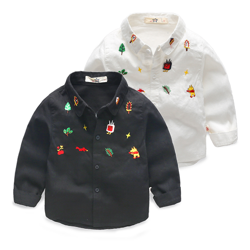 Fashion Embroidery Designs Lovely Shirts For Boys Girl Baby Long