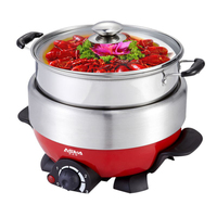 2016 Hot Sale Kitchen Appliances Tool Multifunctional Cooker Split type Cooking Pot Household Electric Steamer 4l Plus Layer