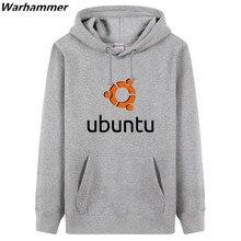 UBUNT- Linux GEEK social club mens hoodie &sweatshirts Coding Style pullover overcoat hooded thick U.S.size boy black hoodie top