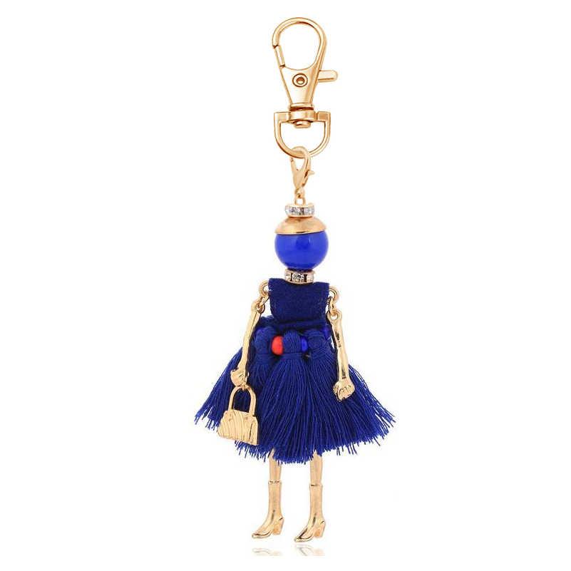 Declaración moda mujer llavero nuevo diseño llavero titular amuleto colgante joyería llavero para bolso accesorio de señora