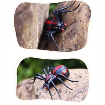 Nowy 2019 pilot na podczerwień pająk wysokiej jakości trwałe żywe słodkie zabawka w kształcie zwierzątka Prank owady Joke straszne zabawki do sztuczek #259205 tanie i dobre opinie CN (pochodzenie) 6 lat Ready-to-go none Electric spider