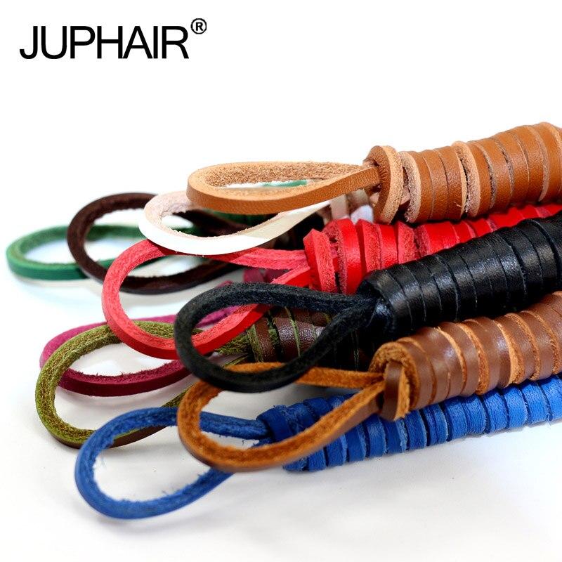 JUP 1 Pair Genuine Cowhide Square Shoelaces Boat Doug Shoes Shoelaces Retro Leather Boots Shoestring  10 color  Length 60CM-200C