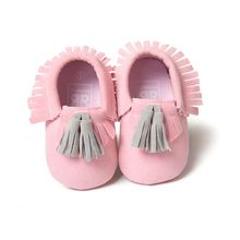 Baby Shoes  Baby Soft PU Leather Tassel Moccasins Girls Bow Moccs Moccasin Bow Design First Walkers
