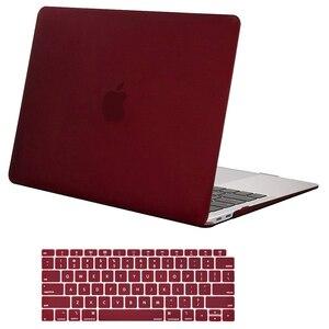 Image 2 - MOSISO новейший матовый чехол для ноутбука для Apple MacBook Air Pro retina 11 12 13 для mac book Pro 13,3 чехол cove + крышка клавиатуры