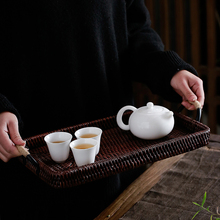 TANGPIN rattan tea trays handmade kung fu set table ceremony accessories