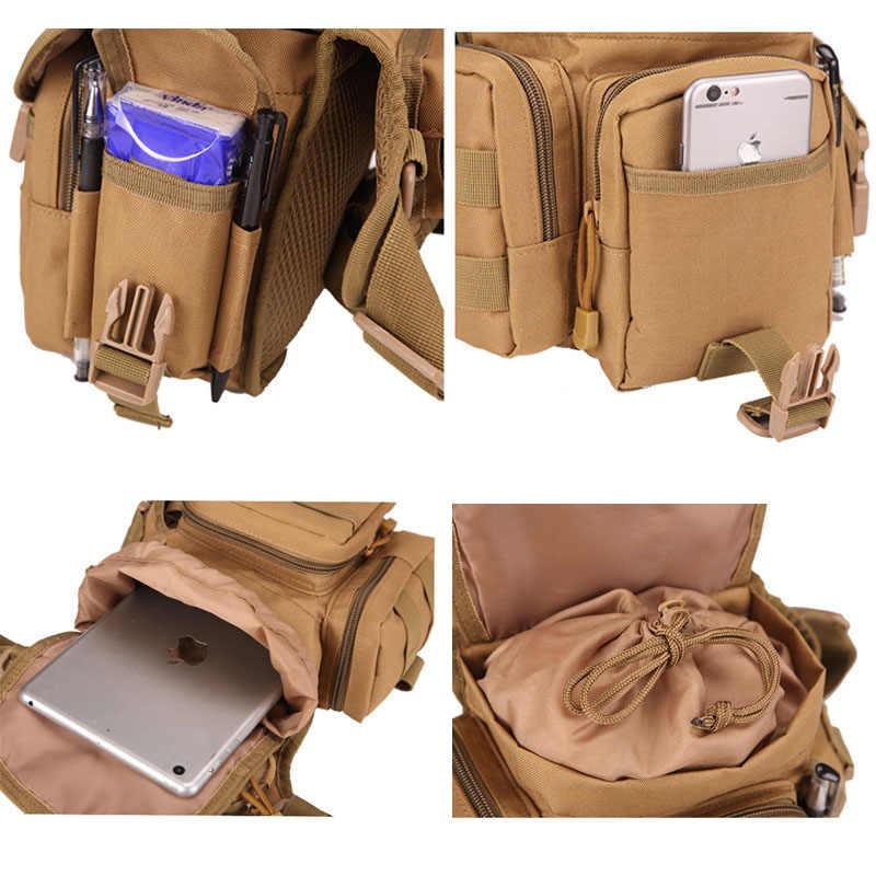 Bolso táctico de la cintura bolso de la caída de la pierna herramienta de la riñonera Camping senderismo militar hombro sillín Nylon Multi-función Paquete XA618WA