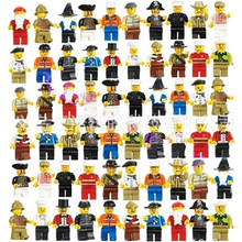 20pcs/lot City Figure Compatible With Legoinglys Cartoon Action Figure City Police Buildings Blocks Sets DIY Assemble Doll Toy(China)