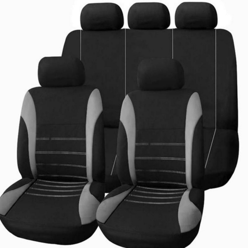 New 9pcs/set Automobiles Seat Covers Full Car Seat Cover Universal Interior Accessories Protector Car-Styling