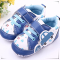 0-2 anos de idade do bebê menino primeiros sapatos de caminhada de couro carro impresso lovely baby boy sapatos sapato bebe menino 545