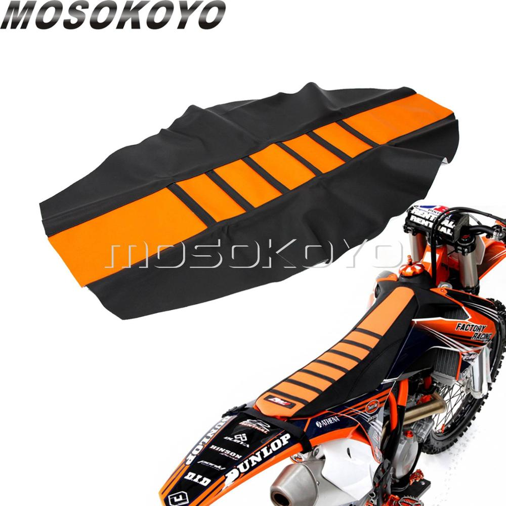 Orange Motocross Dirt Bike Seat Cover Pro Ribbed Gripper Soft Seat Cover For KTM EXC XC XC-W XC-F EXC-F 125 250 350 450 501 701