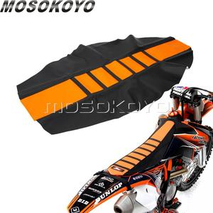 Orange Motocross Dirt Bike Seat Cover Pro Ribbed Gripper Soft Seat Cover for KTM EXC XC XC-W XC-F EXC-F 125 250 350 450 501 701(China)