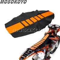 Orange Motocross Saleté Housse De Siège De Vélo Pro Côtelé Pince Souple Housse De Siège pour KTM EXC XC XC-W XC-F EXC-F 125 250 350 450 501 701