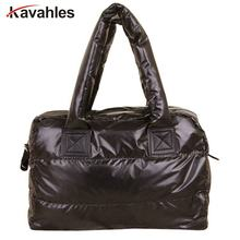 New,Women handbag,feather bags,New winter,space bags,han edition down cotton-padded bag, tote,women messenger bag, YHZ208(China)
