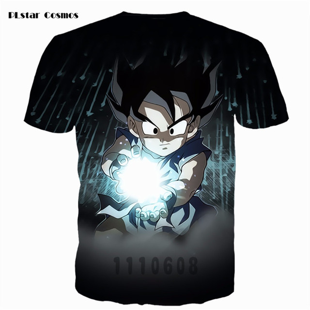 Dragon Ball Z Kid Goku 3D Galaxy Print Summer Casual T-shirts For Men