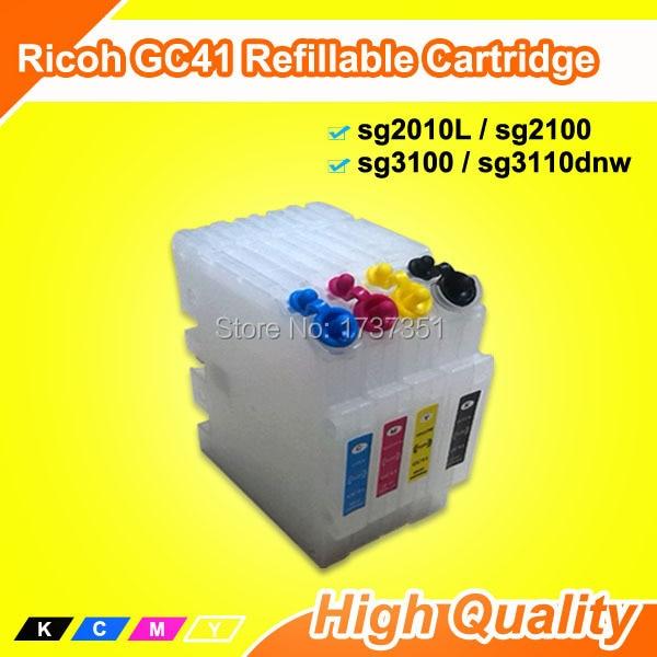 737c2c8a50 Compatible para Ricoh ipsio SG3100 cartucho de tinta recargable con la  viruta del arco