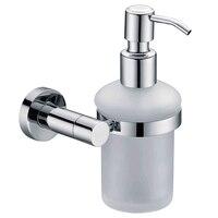 Wall Mounted Bottle Soap Liquid Dispenser Soap Dish Chromed Brass