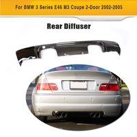 Diffuser for BMW E46 M3 Coupe 2 Door 2002 2005 3 Series Carbon Fiber Car Rear Bumper lip Spoiler Apron Splitter Covers