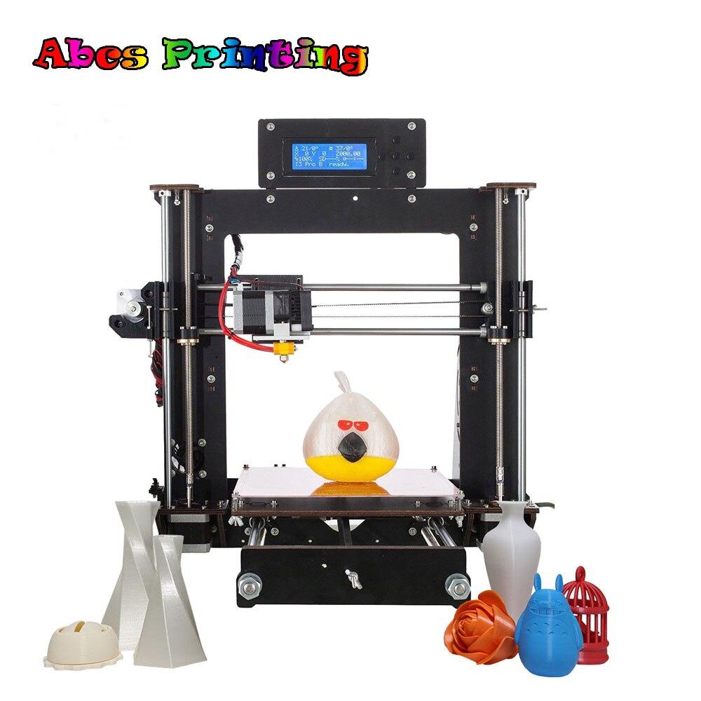 2018 Upgraded Impressora 3d Full Quality High Precision Reprap Prusa i3 DIY 3D Printer MK8 LCD Impresora 3d reprap prusa mendel diy 3d printer linear bearings silver 10 pcs