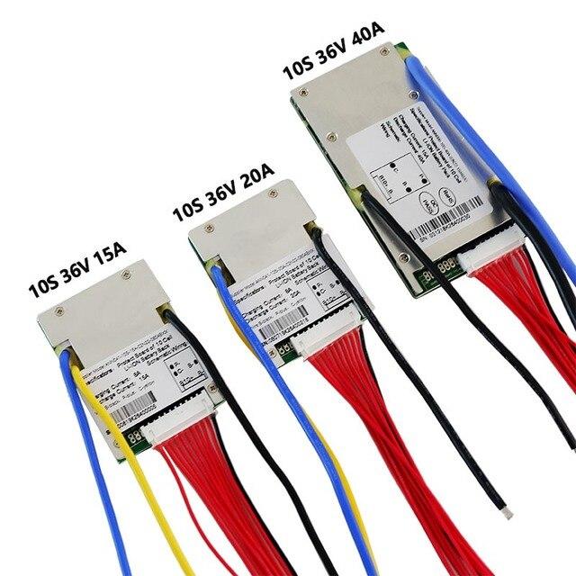 36 فولت بطارية ليثيوم أيون BMS 10S 36 فولت 15A ، 20A و 40A BMS لحزمة بطارية أيون الليثيوم 36 فولت مع وظيفة التوازن