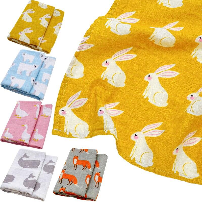 Muslin Organic Cotton Baby Swaddles Wrap Soft Baby Blankets Newborn Bath Gauze Infant Feeding Burp Cloth Towel Scarf Baby Stuff