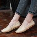 Новый 2016 натуральная кожа свободного покроя обувь квартир женщин женщина туфли-ботинок туфли-loafers весна лето вождения Zapatos Mujer